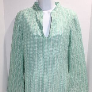 TORY BURCH OCEANIC COROSSOL Stephanie Tunic Blouse
